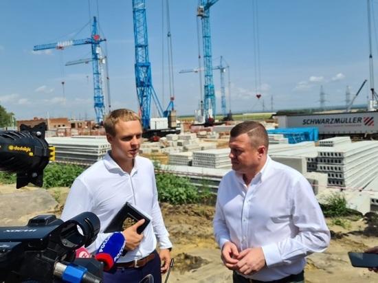 На севере Тамбова строят новую школу с инженерным уклоном
