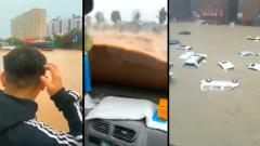 Опубликовано видео прорыва мощной дамбы в Китае из-за наводнения
