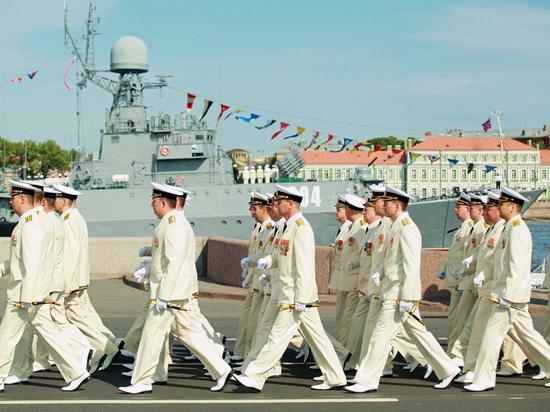 Минoбороны опубликовало схему прохождения кораблей и пролета авиации в День ВМФ в Петербурге
