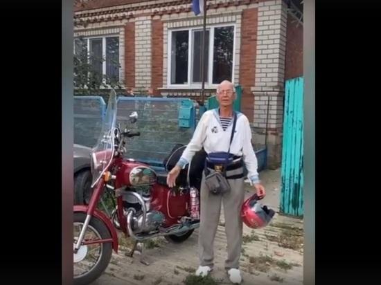 67-летний кубанский моряк отправился на мотоцикле в Кронштадт ради дня Военно-Морского Флота