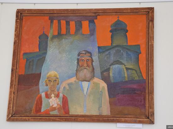 В реконструированной усадьбе Беклешова в Пскове открылась выставка картин