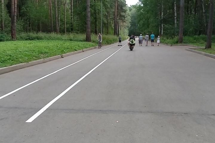 Лучше поздно, чем никогда: в костромской Берендеевке появилась разметка для велодорожек