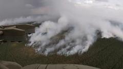 Горящие леса Карелии показали с воздуха: кадры тушения