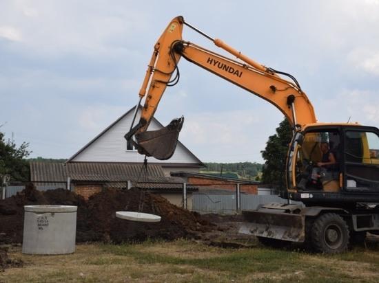 В Инжавино продолжается строительство централизованной канализации
