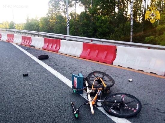На окружной Калуги водитель насмерть сбил велосипедиста и скрылся photo