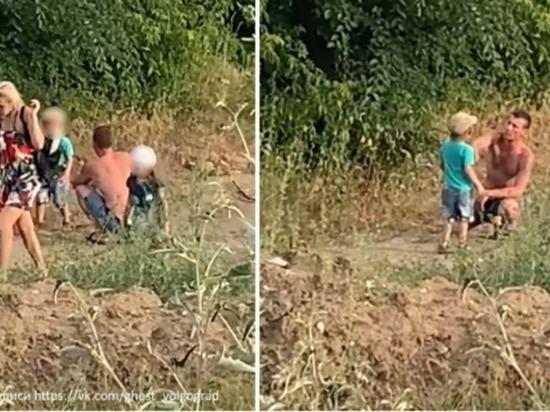 В Волгограде полицейские ищут мужчину, ударившего ребенка