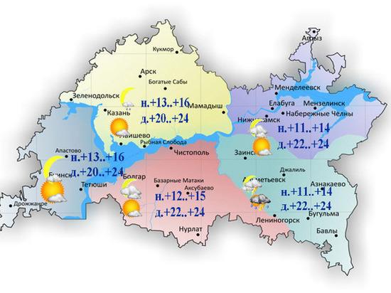 Сильный ветер и похолодание до 11 градусов прогнозируют в Татарстане 23 июля