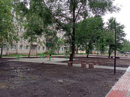 В Курске до конца августа благоустроят сквер на улице Белгородской