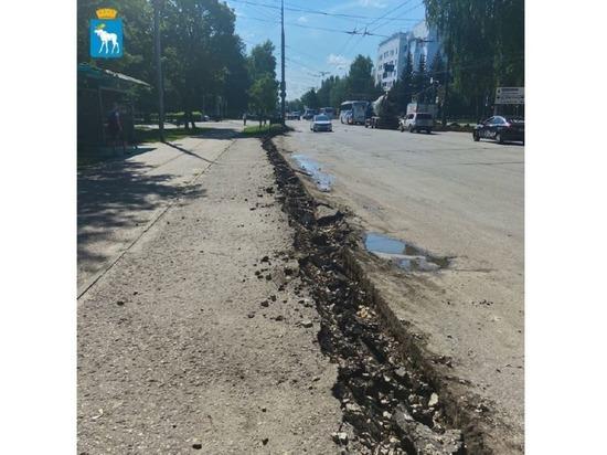 В Йошкар-Оле ремонтируется проезжая часть улицы Панфилова