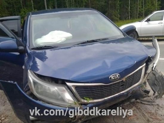 Уставший водитель пустил KIA в кювет, травмировав подростка в Карелии