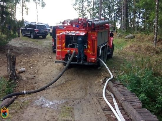 Пожар в Нелгомозеро удалось локализовать