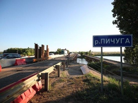 Ремонт моста через Пичугу под Волгоградом выполнен на 45%