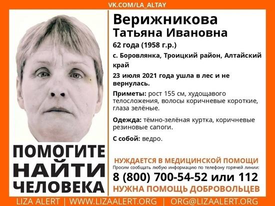 Алтайская пенсионерка пропала без вести в лесу