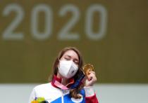 Первую золотую медаль на Олимпийских играх в Токио сборной России принесла Виталина Бацарашкина, выступающая в стрельбе из пневматического пистолета, сообщается в социальных сетях Олимпийского комитета России