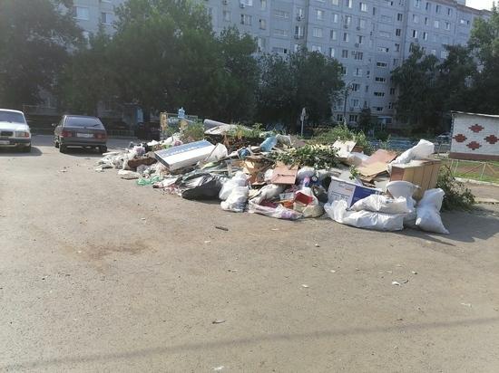 В Оренбурге площадка для мусорных контейнеров превратилась в свалку
