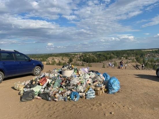 Отдыхающие в тульских Кондуках оставили очередную порцию мусора