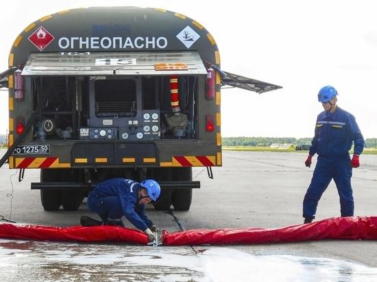 В Твери на аэродроме Мигалово «Пургой-5» потушили условный пожар