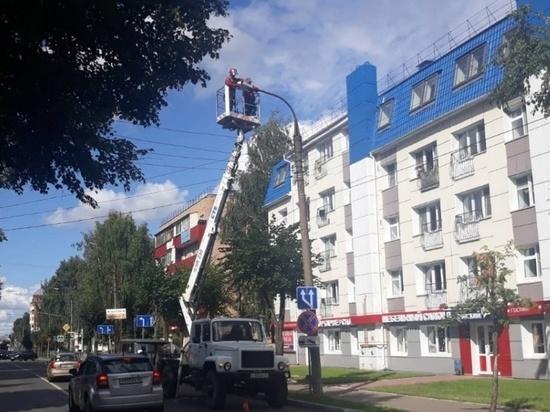 В Йошкар-Оле до 27 июля заменят светильники на улице Советской
