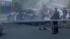 Газовый баллон взорвался в машине в Новом Уренгое