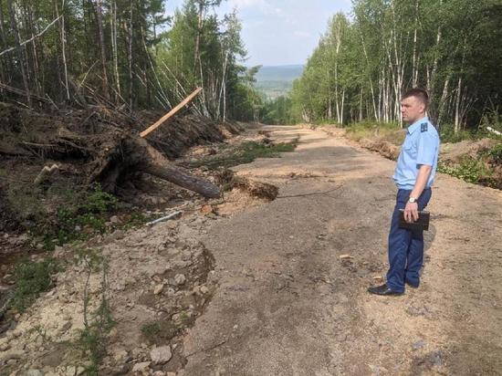 Сель разрушил дорогу в Тындинском районе