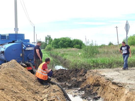 Строительство понтонного моста в амурском селе Ушаково завершилось 28 июля