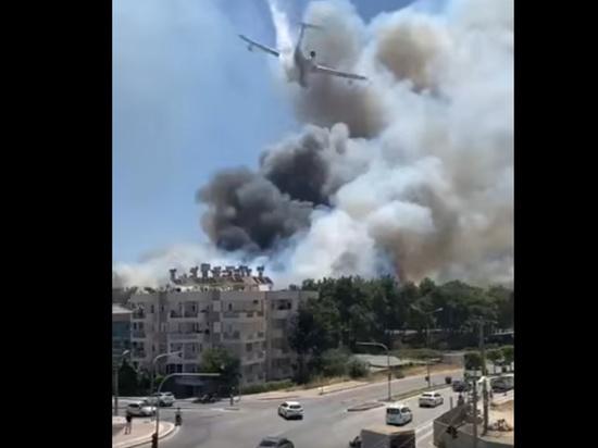 В турецкой курортной провинции Анталья начали останавливать экскурсии из-за масштабных лесных пожаров, которые бушуют сейчас в районе города Манавгат, порой в непосредственной близости у жилых домов