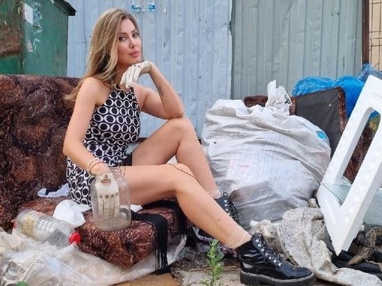 Активистка из Иванова борется со свалками своим гламурным видом
