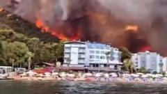 Появилось видео пожаров на турецком курорте Мармарис: идет эвакуация