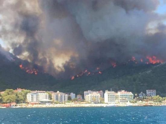 В Турции лесные пожары вспыхнули в Бодруме