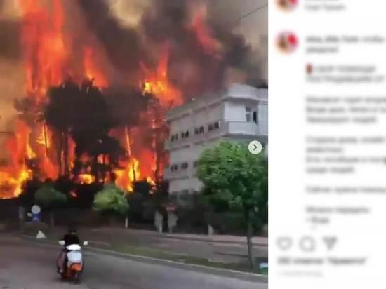 Опубликованы страшные видео подступивших к отелям пожаров в Турции