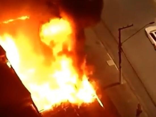 Главный киноархив Бразилии горит в Сан-Паулу