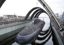 В Северодвинске сегодня прошла церемония спуска на воду (вывода из эллинга) атомной подводной лодки 4 поколения «Красноярск»
