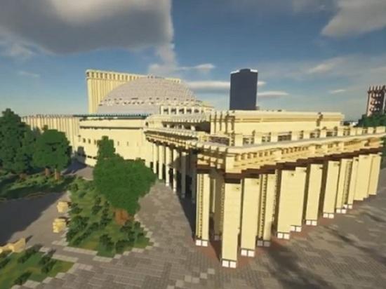 Виртуальный центр Новосибирска с оперным театром появился в компьютерной игре Minecraft