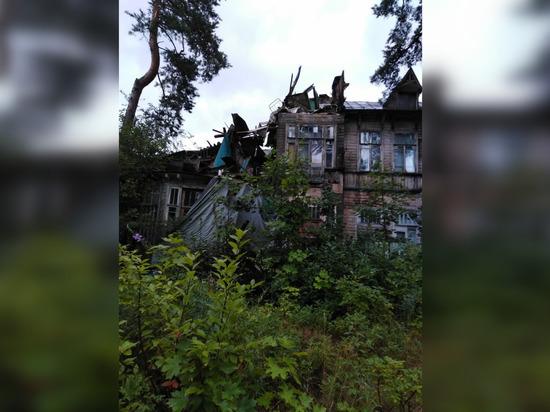 Обрушилась дача Кривдиной, в которой живет многодетная семья