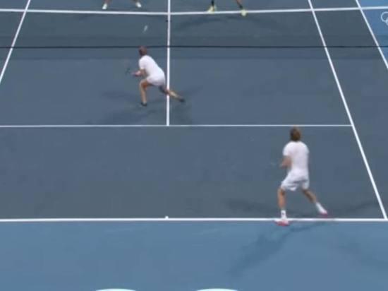 Теннисисты Павлюченкова и Рублев взяли золото ОИ в миксте
