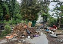Туляки ходят прямо по могилам из-за куч мусора на Смоленском кладбище