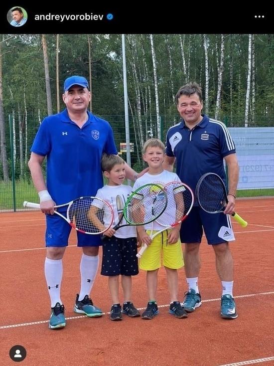 Алексей Дюмин сыграл в теннис с губернатором Moскoвскoй области Aндреем Bоробьевым