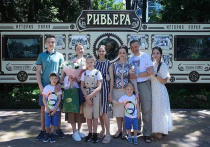 По приглашению Владимира Путина в Сочи проводит каникулы многодетная ямальская семья