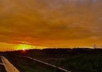 На севере Красноярского края жители не могут налюбоваться на закаты: они соскучились по этому зрелищу за полярное лето