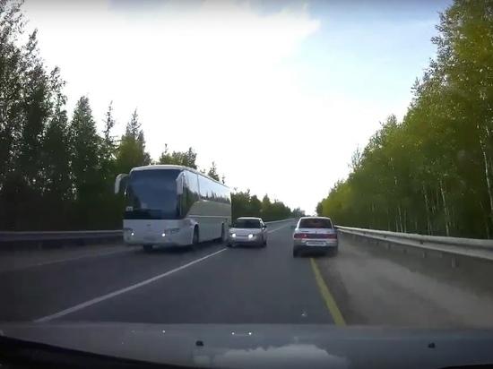 Лихач вылетел на «встречку» и едва не устроил ДТП в Ноябрьске
