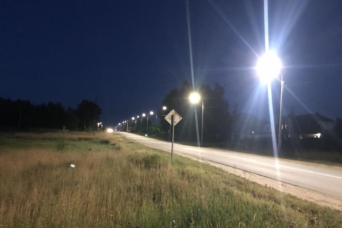 Костромаэнерго завершило строительство сетей наружного освещения поселковой автодороги в Красносельском районе