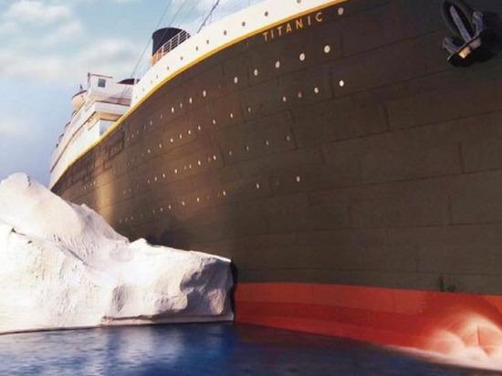 В музее «Титаника» в США рухнула стена-айсберг