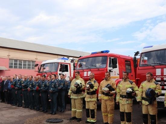В Красноярске установили мемориал погибшим пожарным