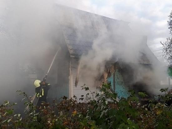 Причиной возгорания стало неустойчивое состояние хозяина дома