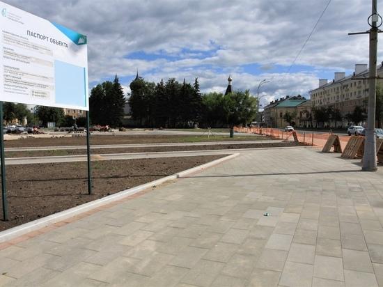 Срок сдачи сквера на площади Ленина в Пскове перенесли на месяц
