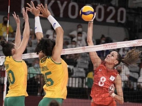 Российские волейболистки уступили Бразилии в четвертьфинале ОИ-2020