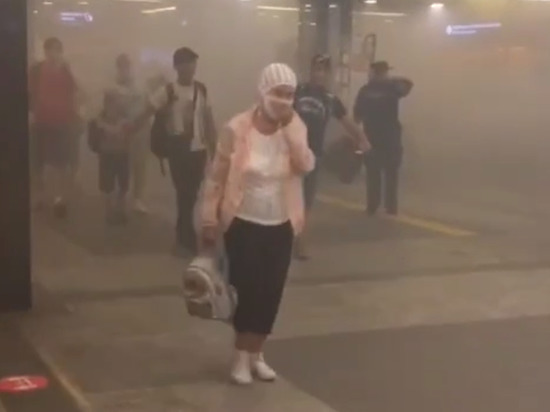На Киевском вокзале в Москве началась эвакуация из-за задымления