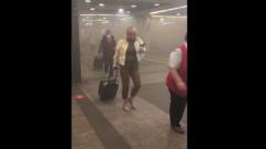 Киевский вокзал заволокло дымом: кадры эвакуации