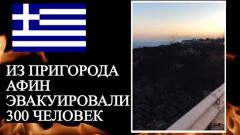 Греция в огне: опубликованы страшные кадры лесных пожаров