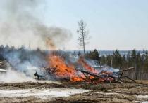 В Якутии в селе Бясь-Кюель начали расчищать территорию после пожара